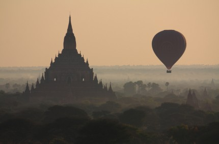 Sunrise flight, Bagan