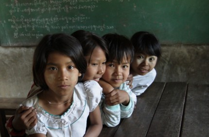 In the classroom, Nyaung Shwe