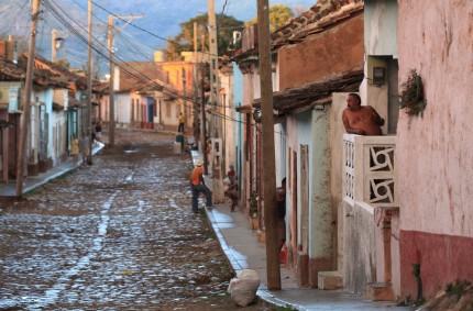 Cobbled street, Trinidad