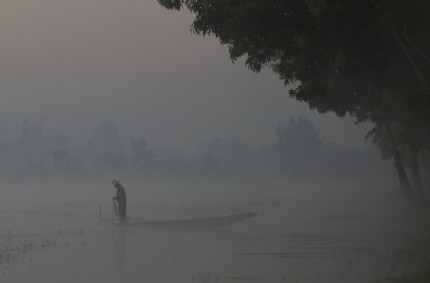 Early morning fishing, Inle Lake