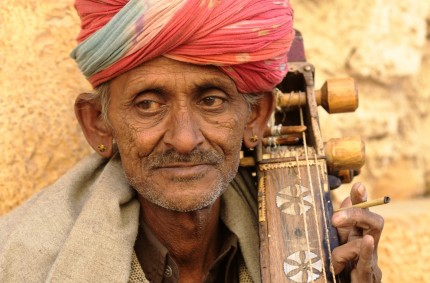 Kamancha player, Jaisalmer