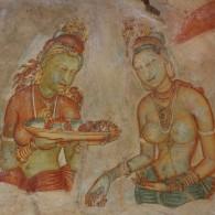 Sigiriya rock frescoes