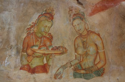 Sigiriya rock frescoes